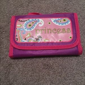 New Pink Purple Kids Princess Fold Down Lunch  Bag